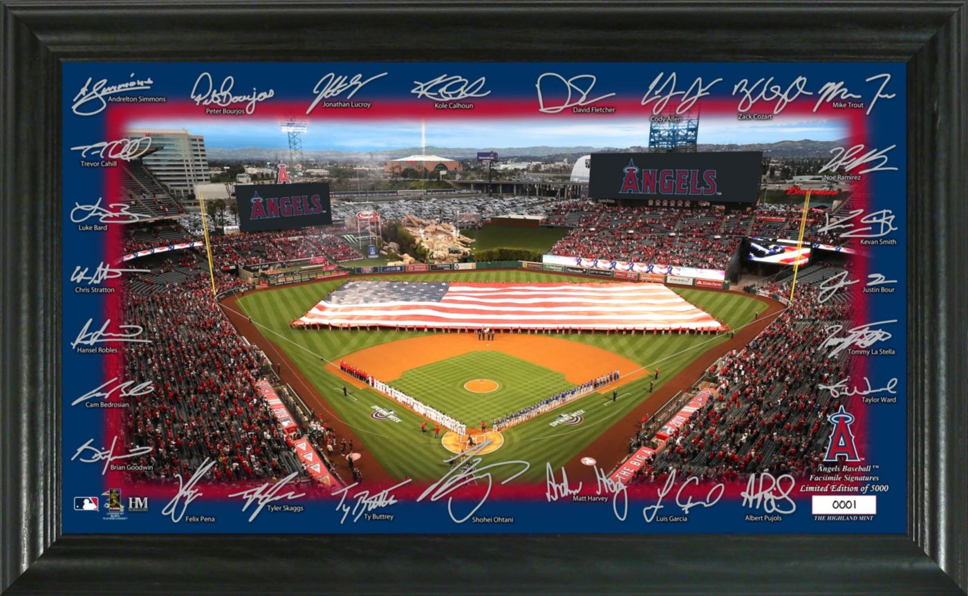Highland Mint Los Angeles Angels Signature Field Photo Frame