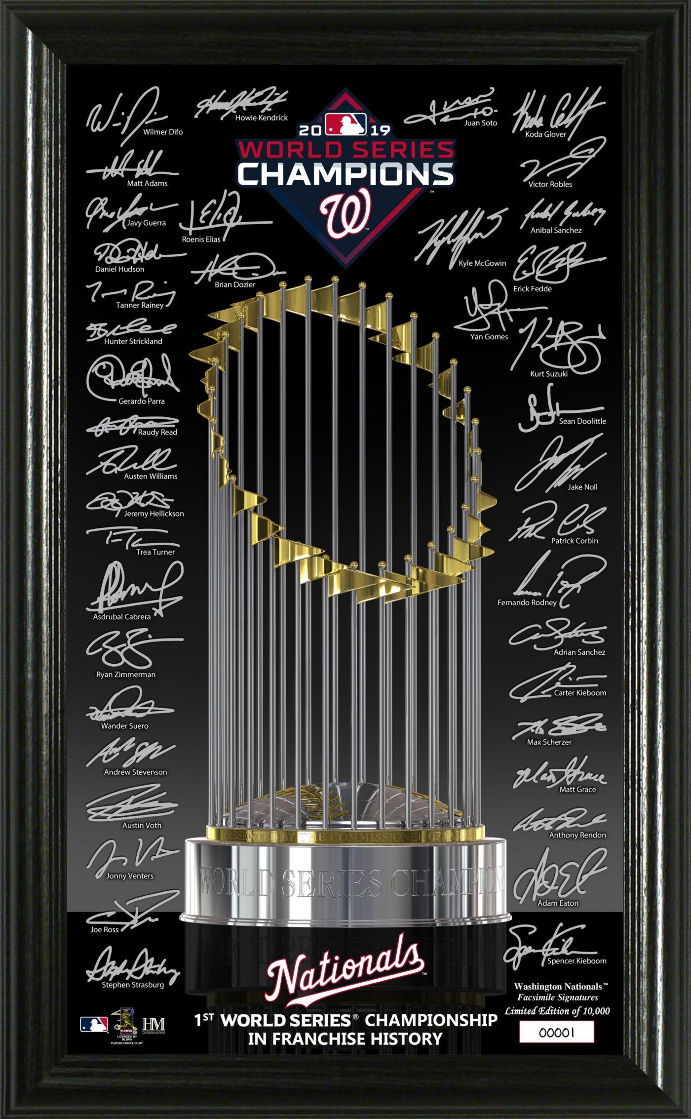 Highland Mint 2019 World Series Champions Washington Nationals Signature Trophy