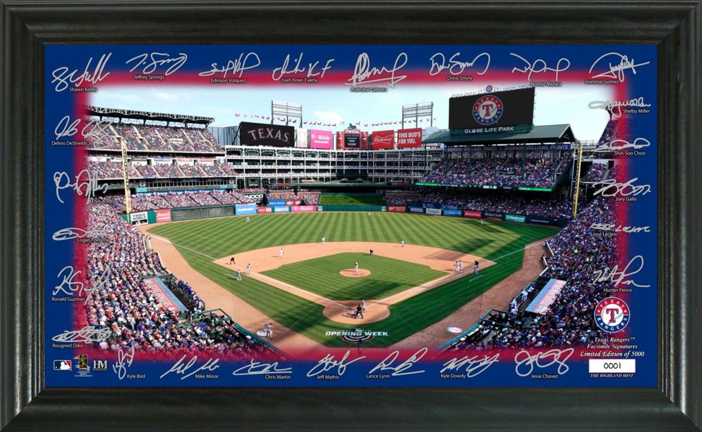 Highland Mint Texas Rangers Signature Field Photo Frame
