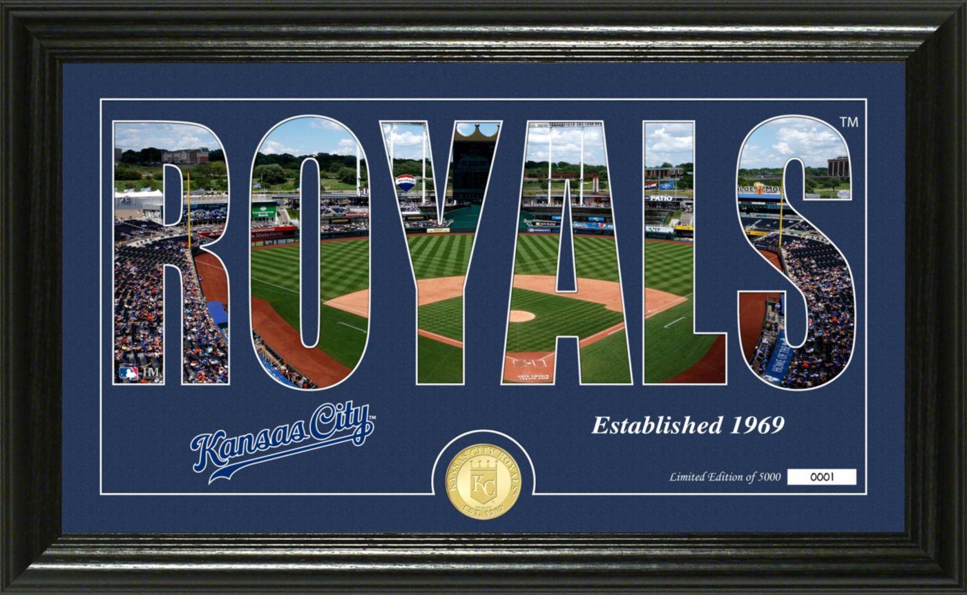 Highland Mint Kansas City Royals Silhouette Panoramic Bronze Coin Photo Mint