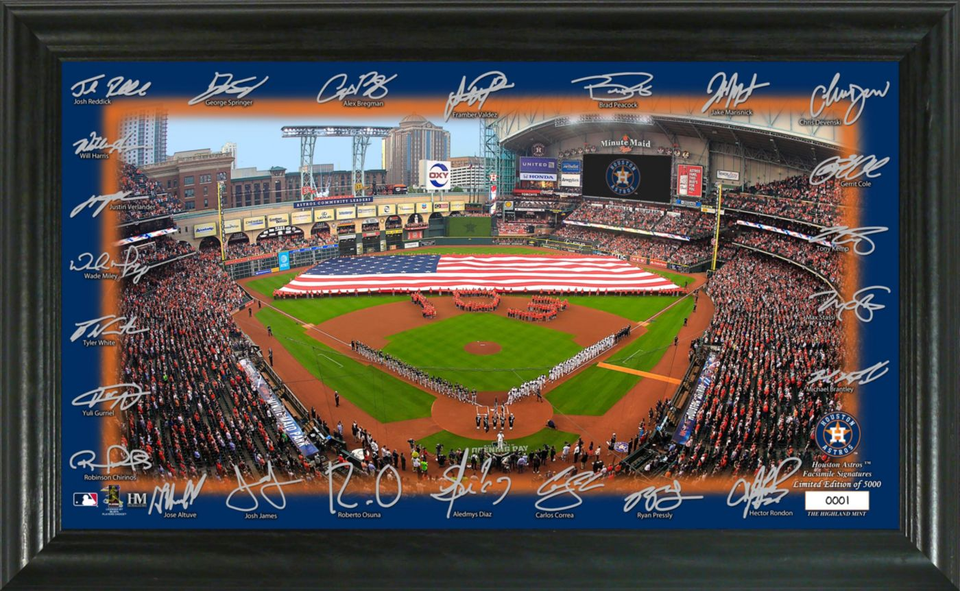 Highland Mint Houston Astros Signature Field Photo Frame