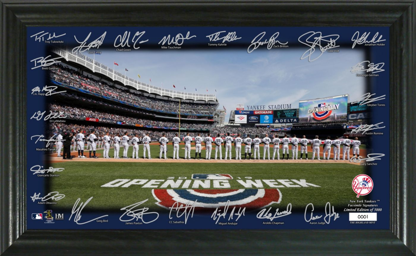 Highland Mint New York Yankees Signature Field Photo Frame