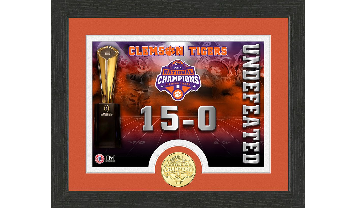 Highland Mint 2018 National Champions Clemson Tigers Undefeated Coin