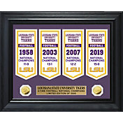 Highland Mint 2019 National Champions LSU Tigers Gold Coin Deluxe Banner Collection