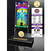 Highland Mint 2019 National Champions LSU Tigers Acrylic Ticket Holder