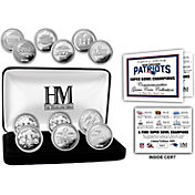 Highland Mint Super Bowl LIII 6X Champions New England Patriots Silver Coin Set