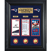 Highland Mint Super Bowl LIII Champions New England Patriots Deluxe Gold Coin and Ticket Collection