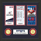 Highland Mint Super Bowl LIII Champions New England Patriots Road to Super Bowl LIII Ticket Frame