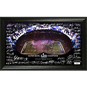 Highland Mint Super Bowl LIII Champions New England Patriots Signature Grid Frame
