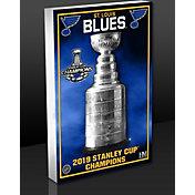 Highland Mint 2019 NHL Stanley Cup Champions St. Louis Blues 3D Art Block