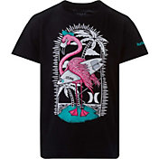 Hurley Boys' Flamingo Surfer Icon Logo Graphic Short Sleeve T-Shirt