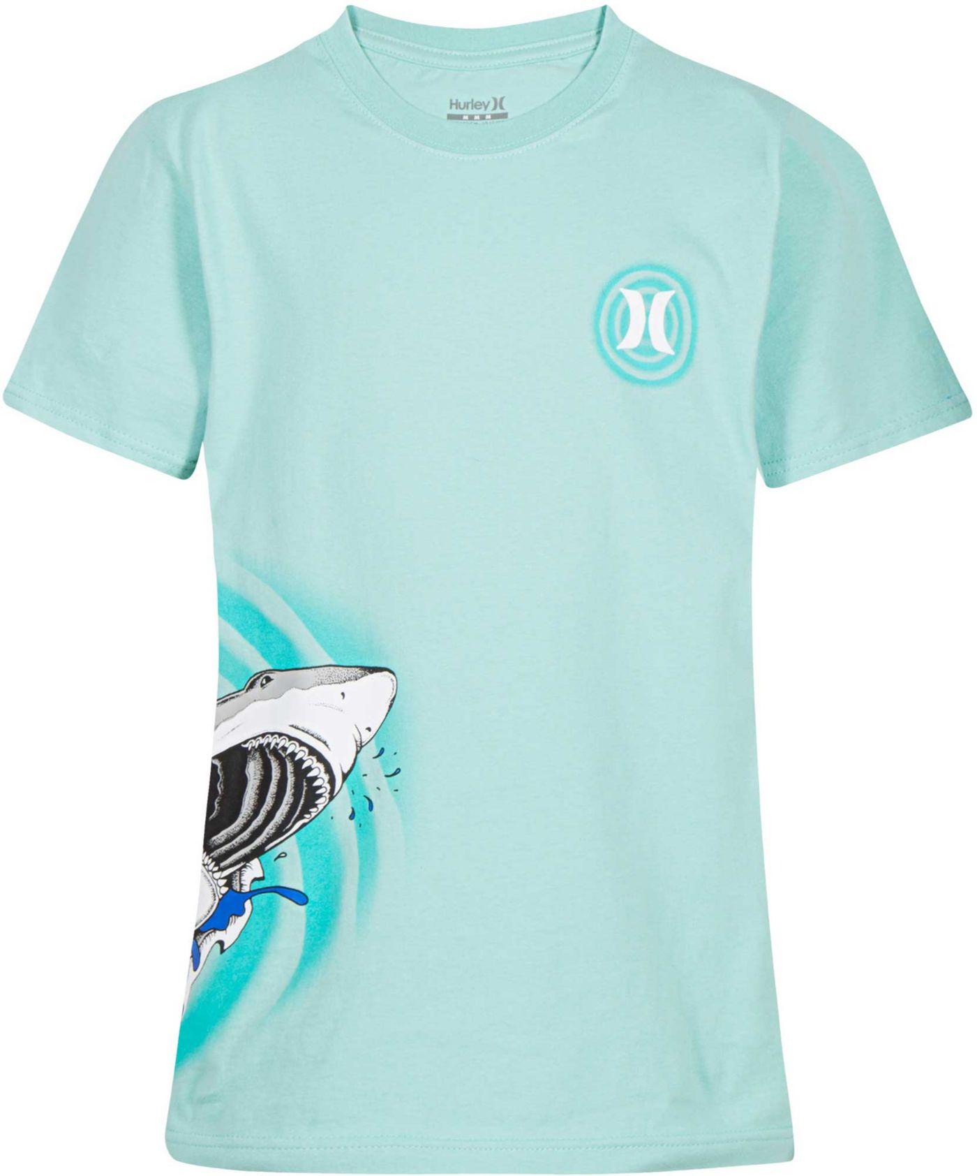 Hurley Boys' Shark Bite Icon Logo Graphic Short Sleeve T-Shirt