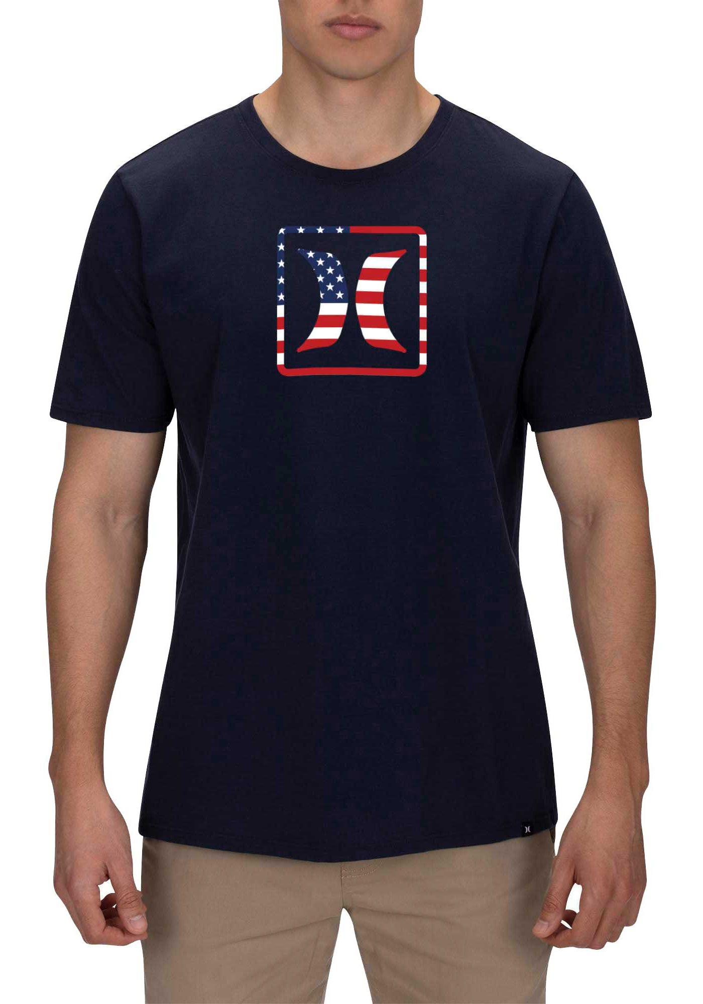 Hurley Men's Block USA T-Shirt
