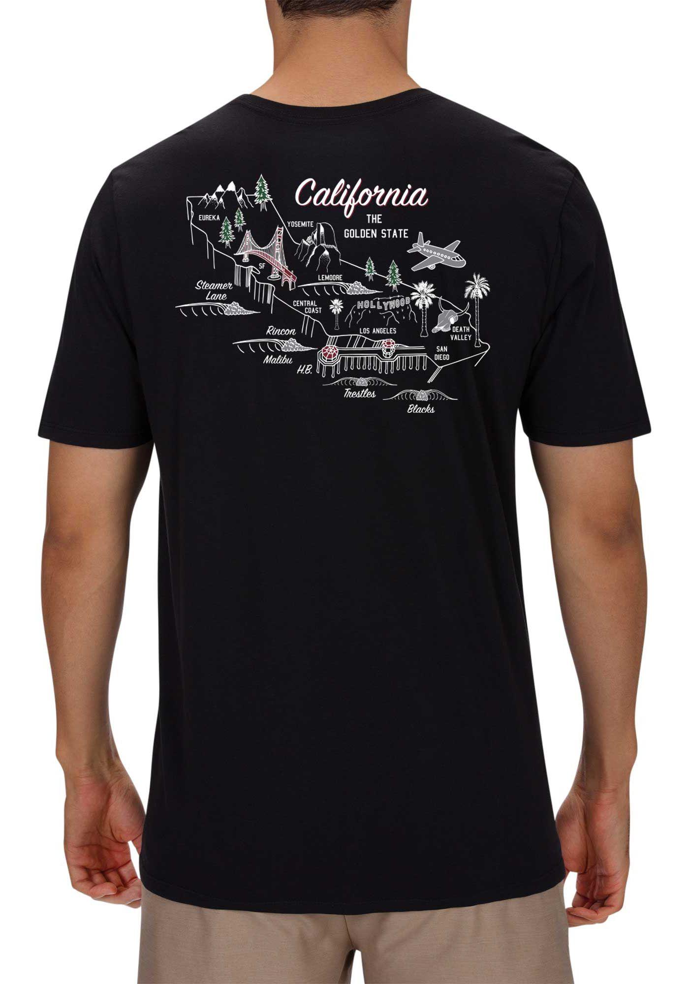 Hurley Men's Cali 3D Maps Premium Short Sleeve T-Shirt