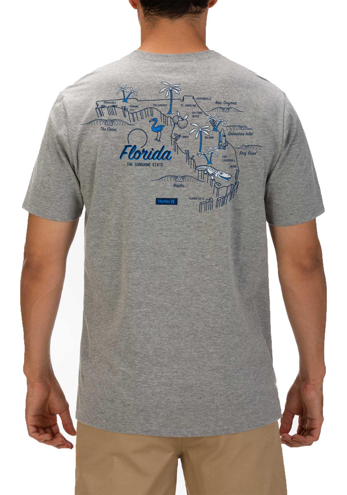 Hurley Men's Florida 3D Mapstee T-Shirt
