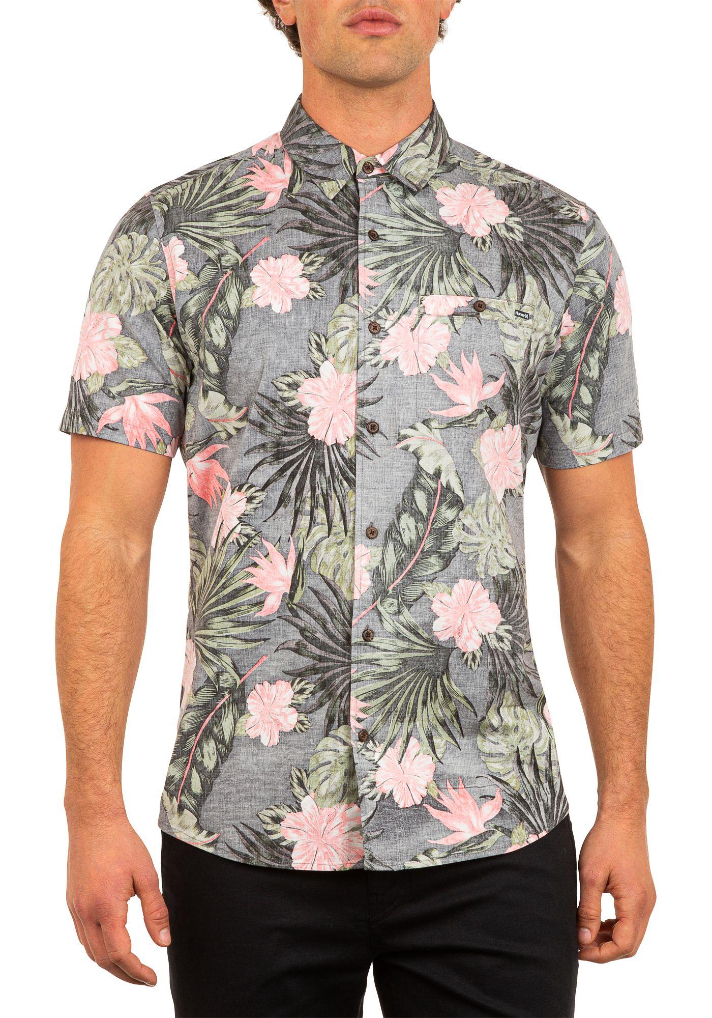 Hurley Men's Lanai Stretch Reverse Woven Short Sleeve Shirt
