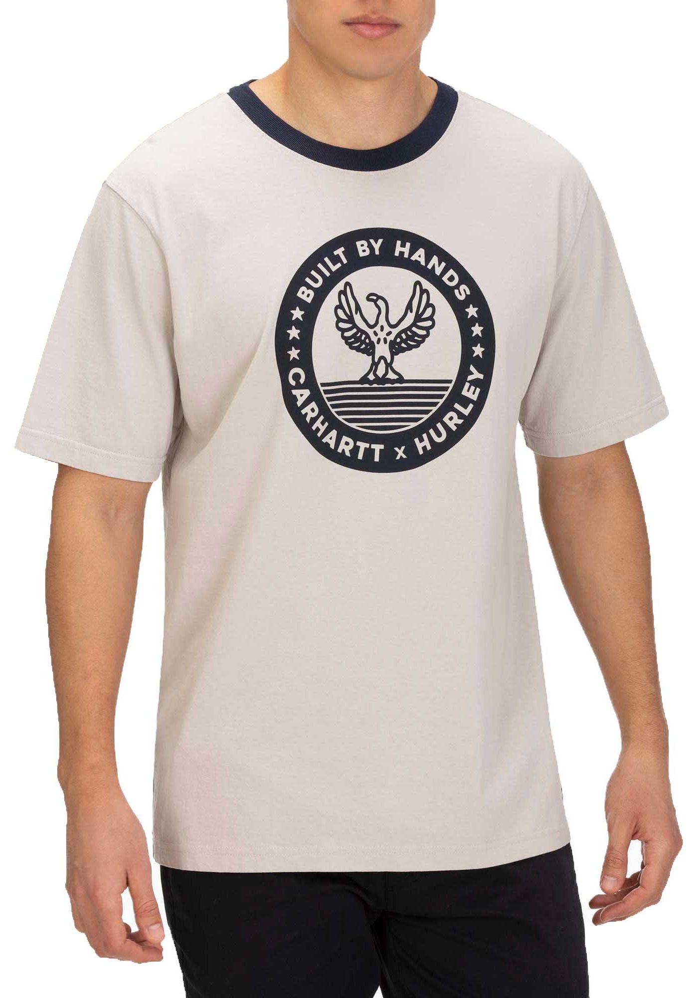 Hurley Men's Carhartt Built Ringer Short Sleeve T-Shirt