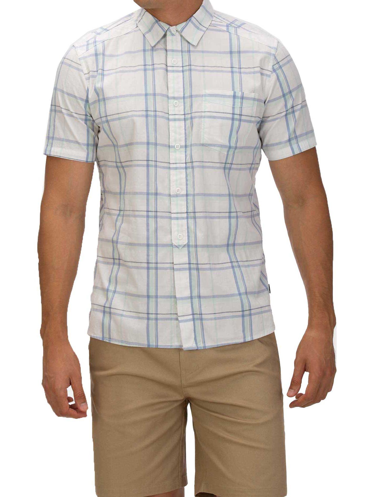 Hurley Men's Frankie Stretch Short Sleeve Button Down Shirt