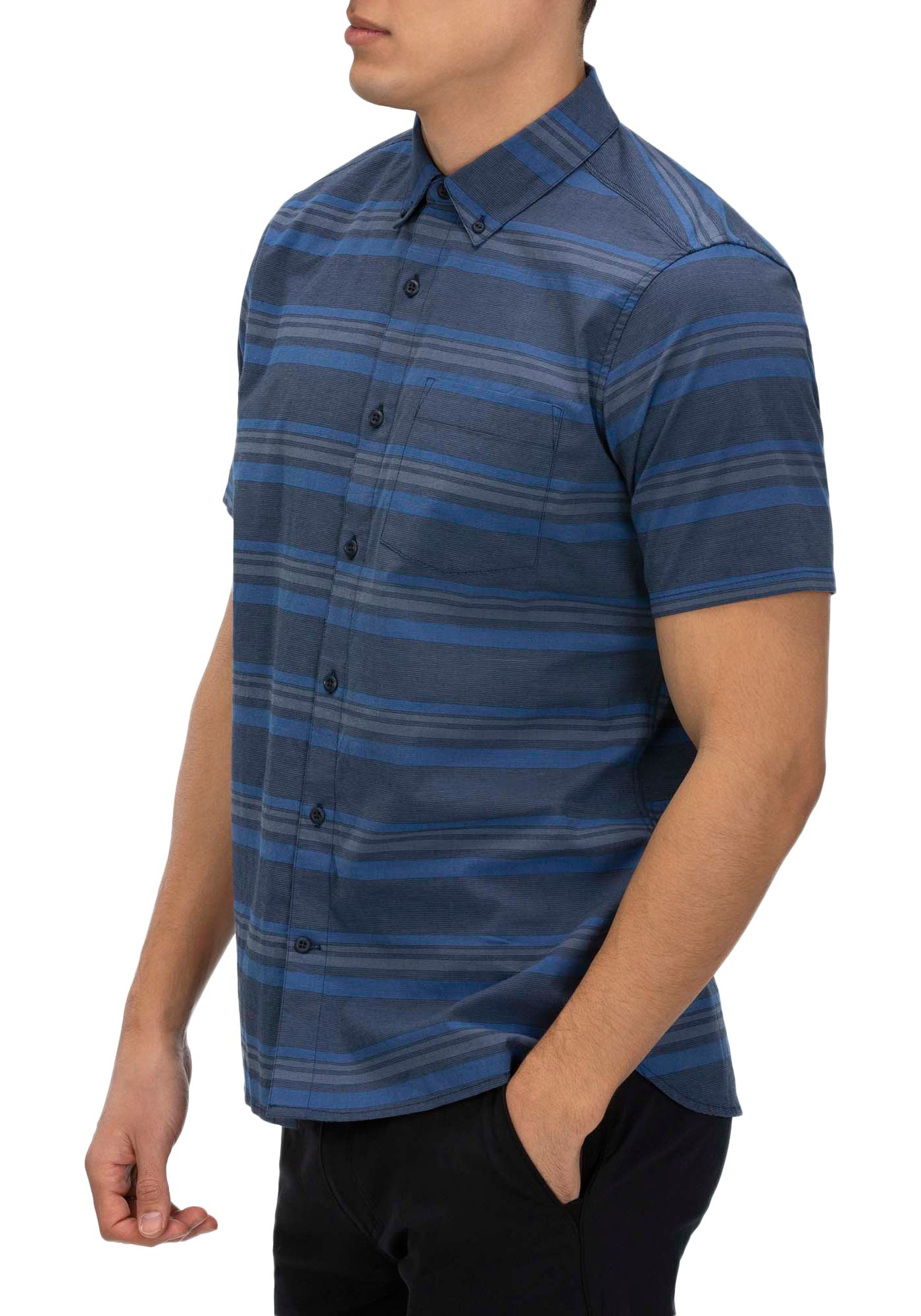 Hurley Men's Outlaw Stretch Short Sleeve Button Down Shirt