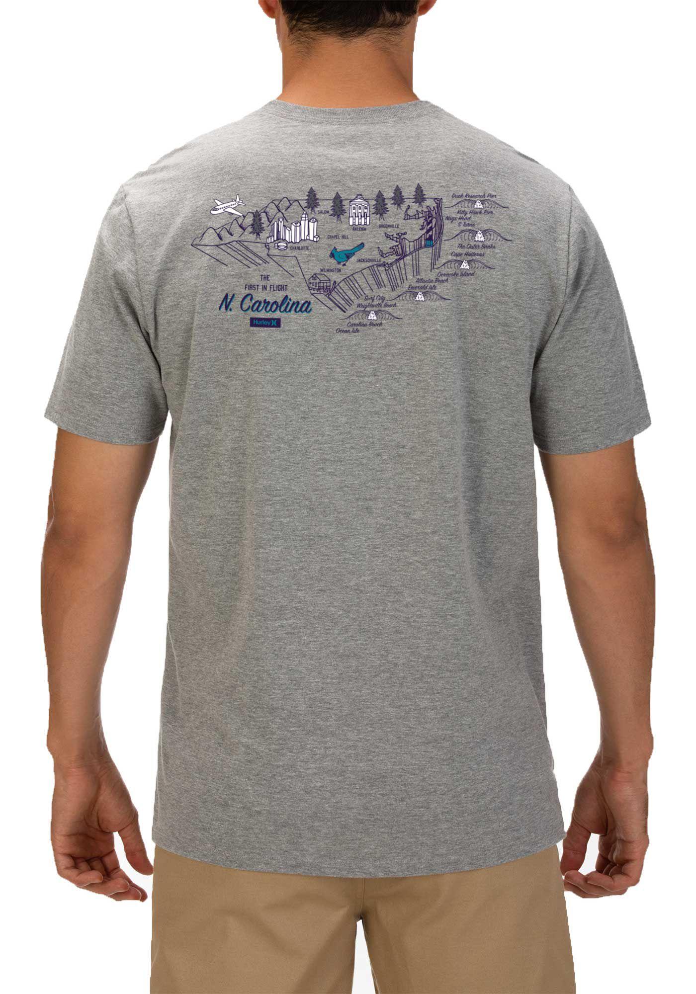 Hurley Men's North Carolina 3D Mapstee T-Shirt