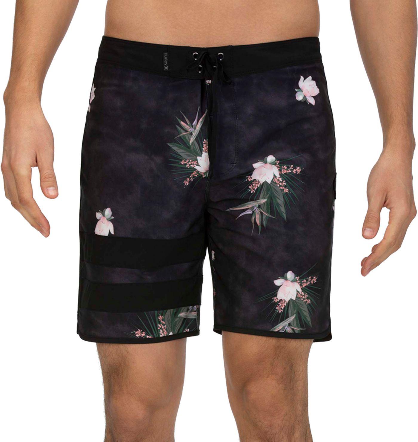 "Hurley Men's Phantom Block Party Paradise 18"" Board Shorts"