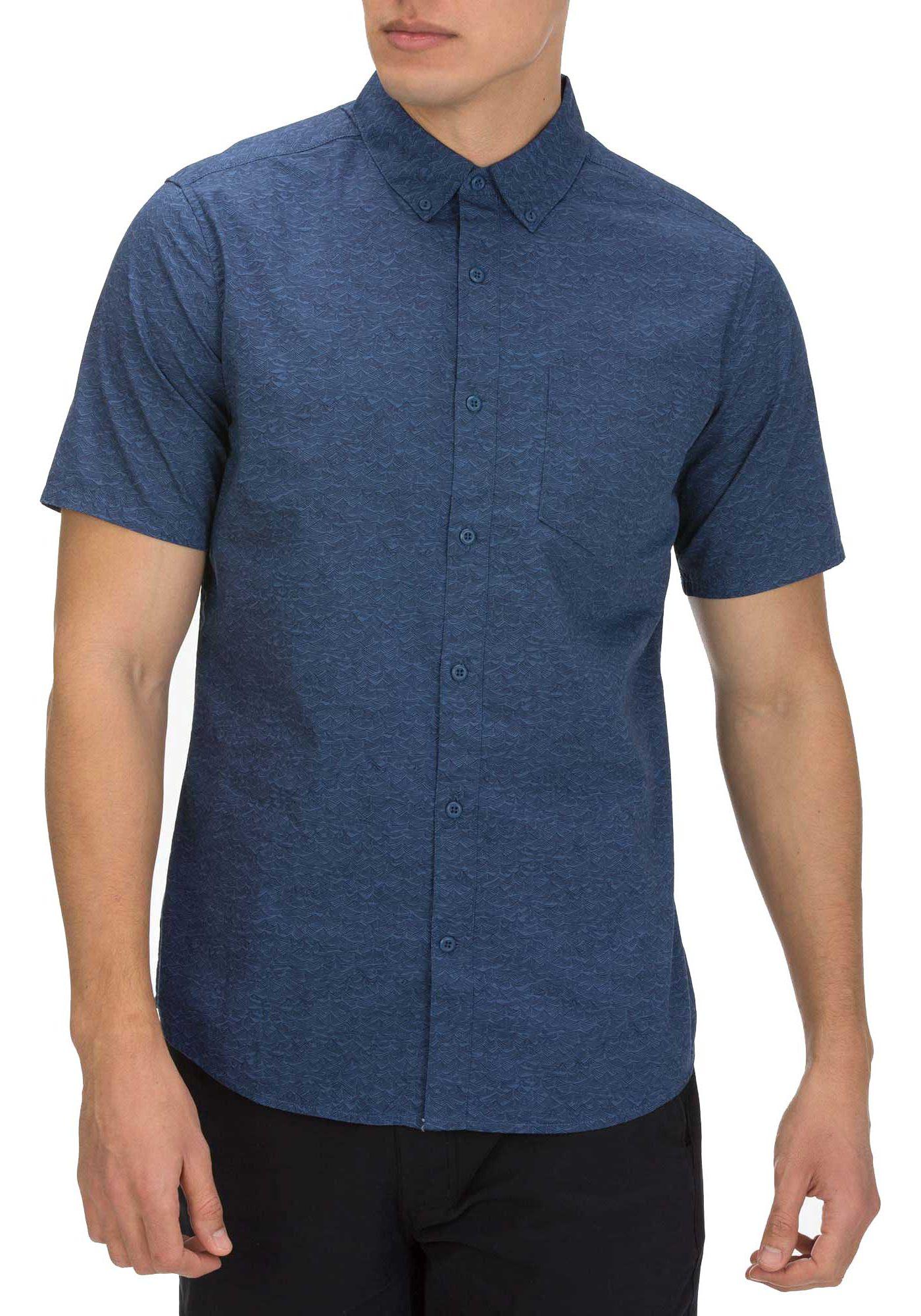 Hurley Men's Sleepy Hollow Short Sleeve Woven Button Up Shirt