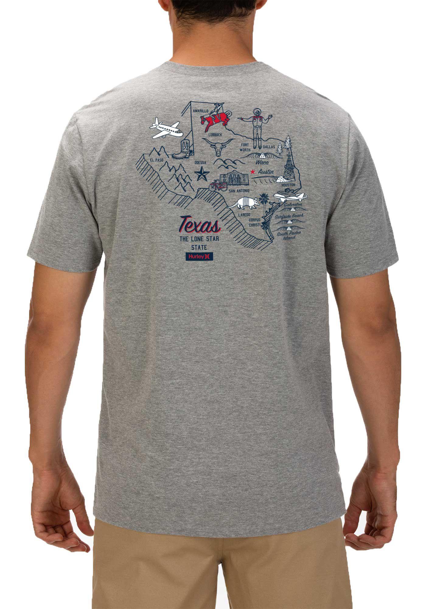 Hurley Men's Texas 3D Mapstee T-Shirt