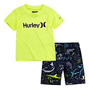 Hurley Little Boys' Solid Icon Dri-FIT T-Shirt and Shorts Set