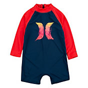 Hurley Infant Lil Shark Long Sleeve Romper