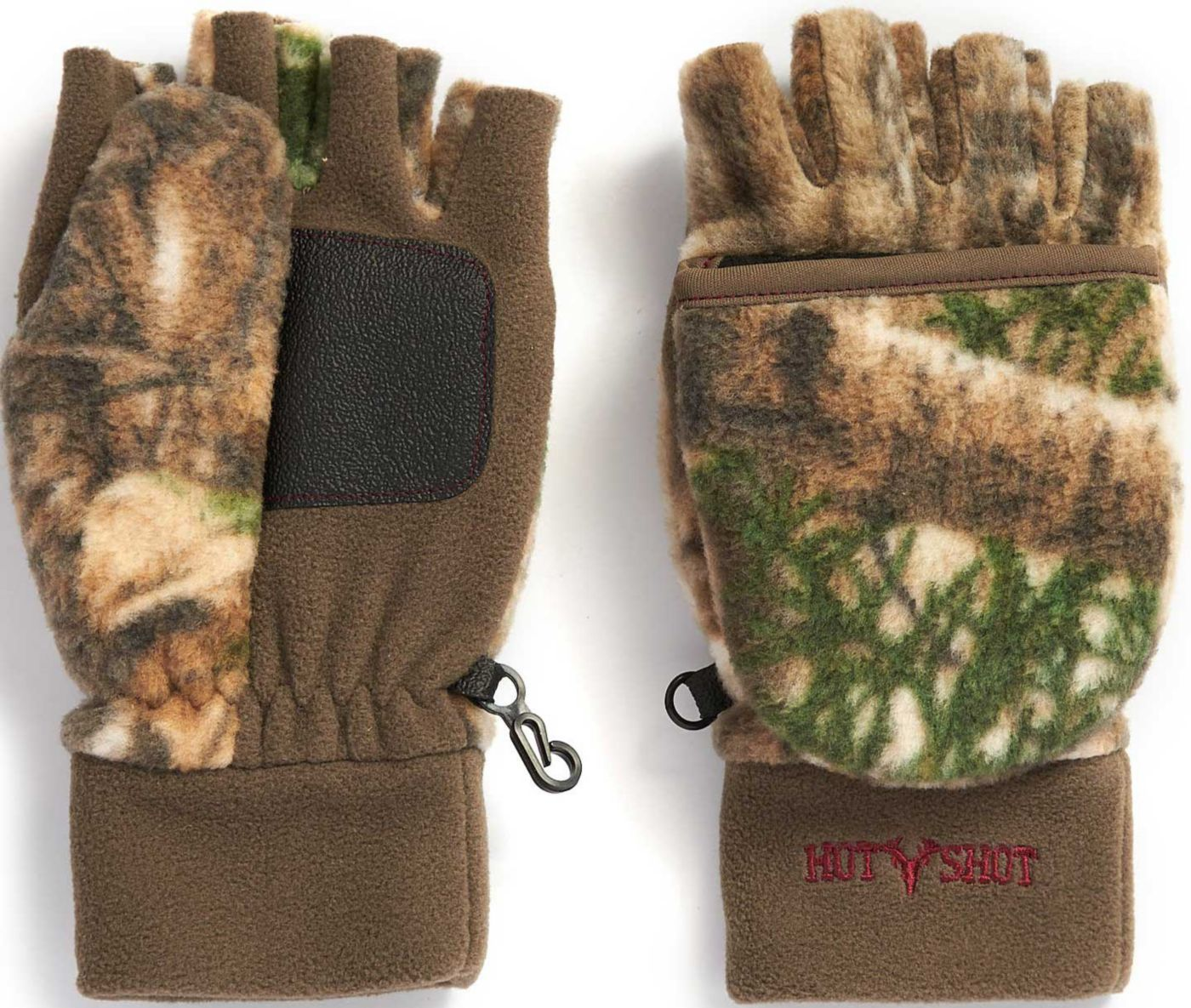 Hot Shot Women's Bullseye Fleece Pop Top Mittens