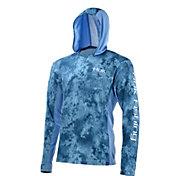 Huk Icon X Camo Long Sleeve Hooded Fishing Shirt