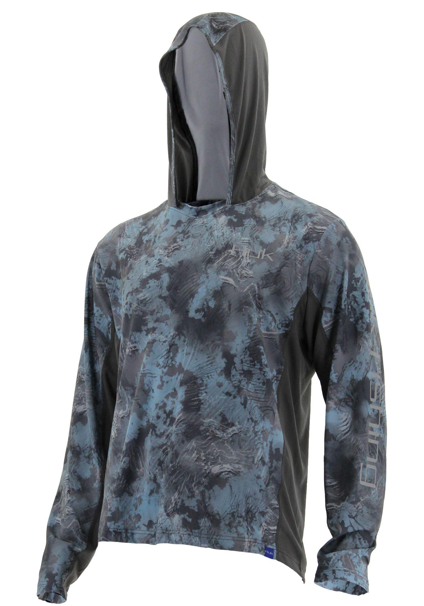 Huk Icon X Camo Long Sleeve Hooded Fishing Shirt (Regular and Big & Tall)