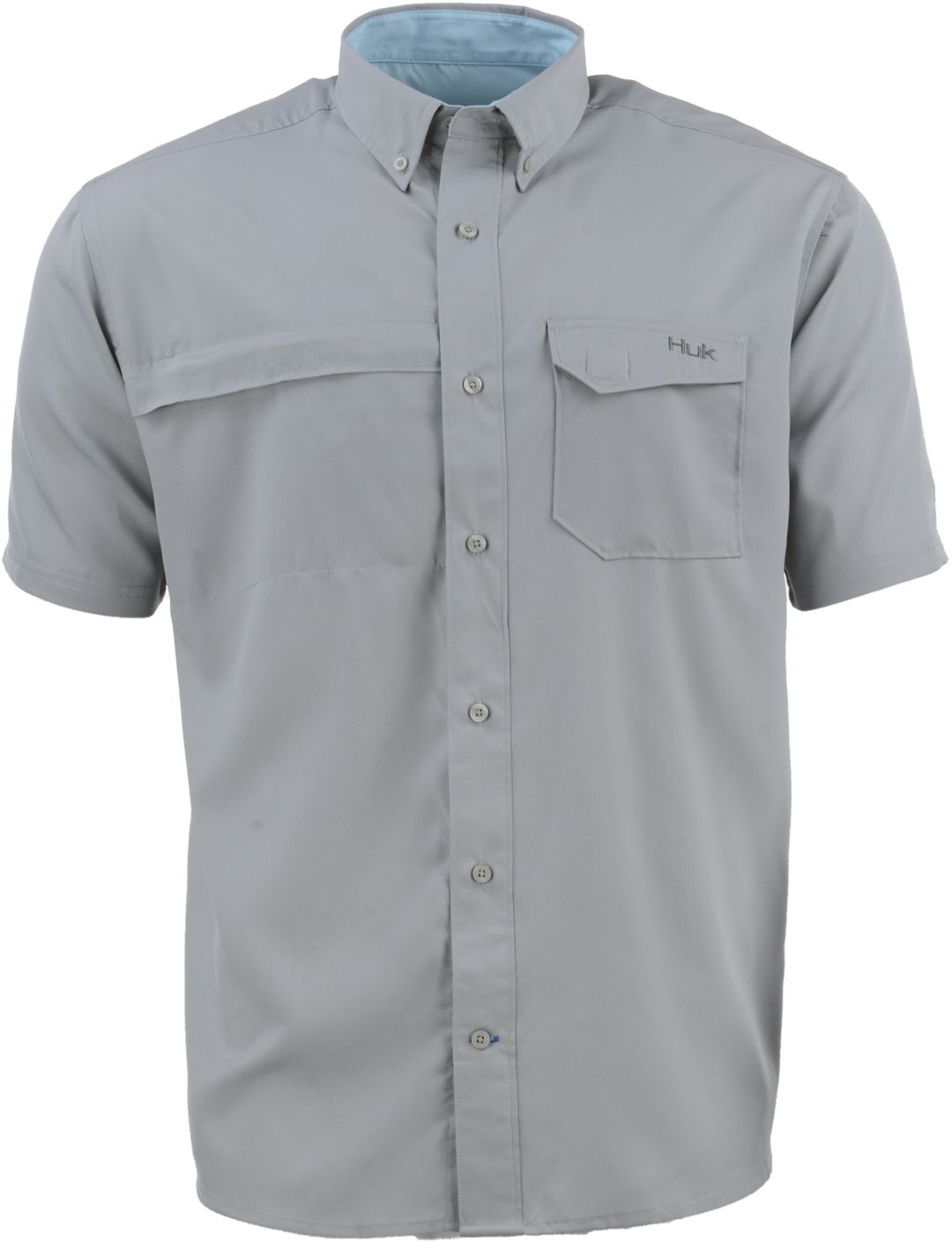 42ca9abcc HUK Men's Tide Point Woven Solid Button Down Short Sleeve Shirt ...
