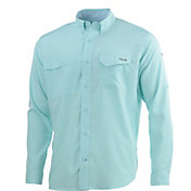 HUK Men's Tide Point Woven Solid Long Sleeve Shirt