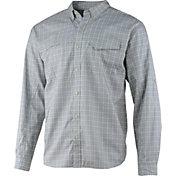 Huk Men's Tidepoint Woven Plaid Long Sleeve Shirt