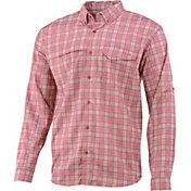 Huk Men's Tidepoint Woven Plaid Long Sleeve Shirt
