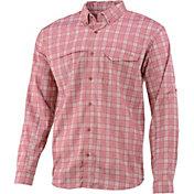 Huk Men's Tidepoint II Plaid Woven Long Sleeve Shirt