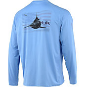Huk Men's Pursuit American Pitch Long Sleeve Performance Shirt