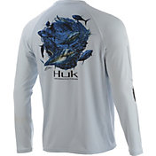 Huk Men's Pursuit Tuna Baitball Long Sleeve UPF Performance Shirt