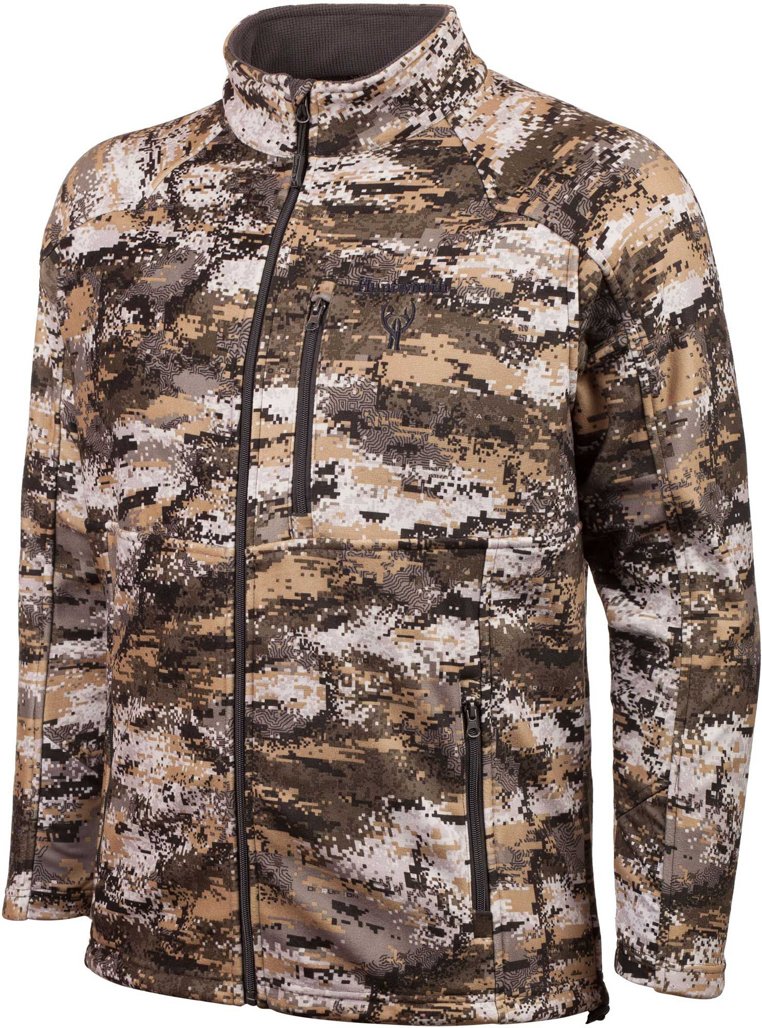 Huntworth Men's Mid Weight Hunting Jacket, Size: Medium, Disruption