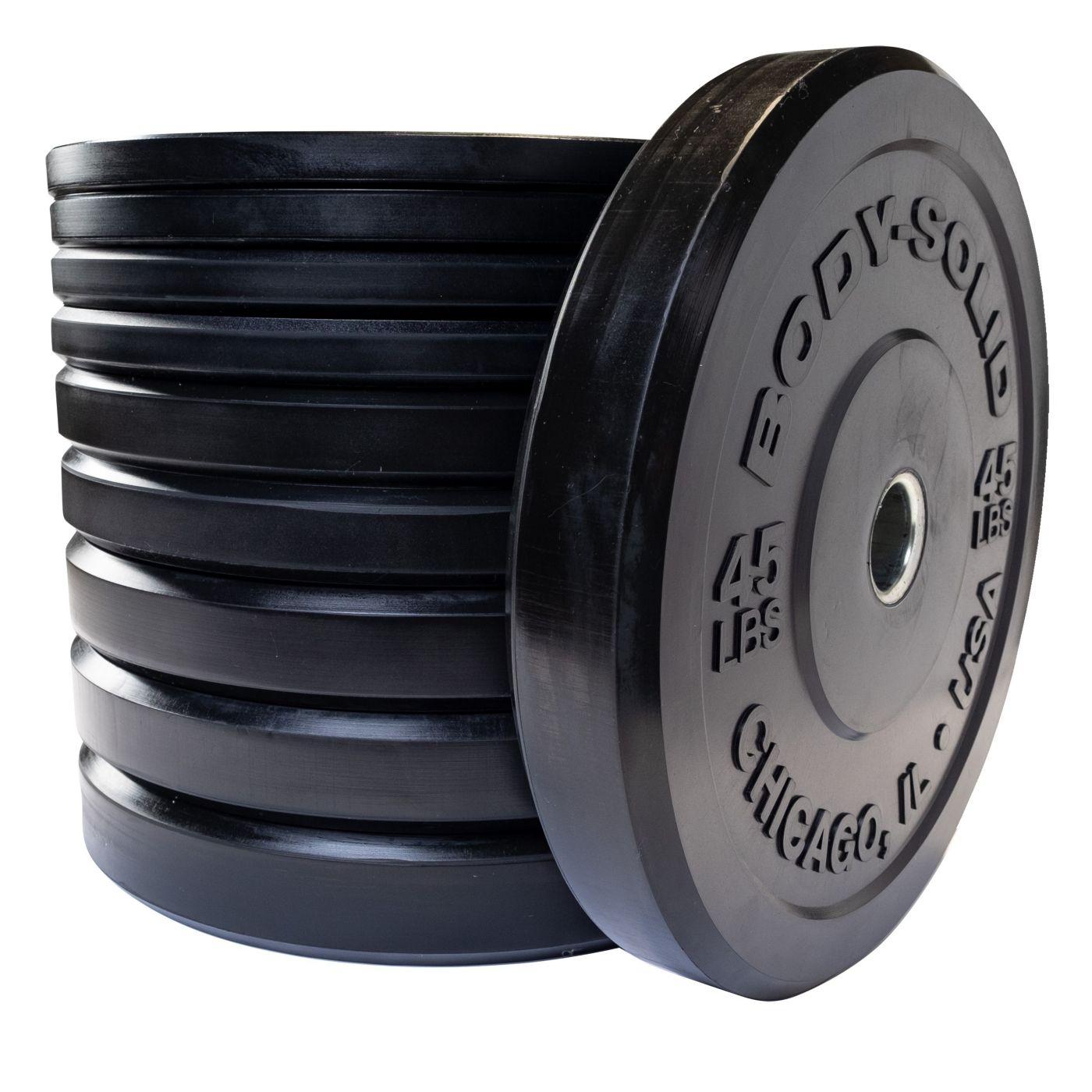 Body Solid OBPX260 Bumper Plate Set