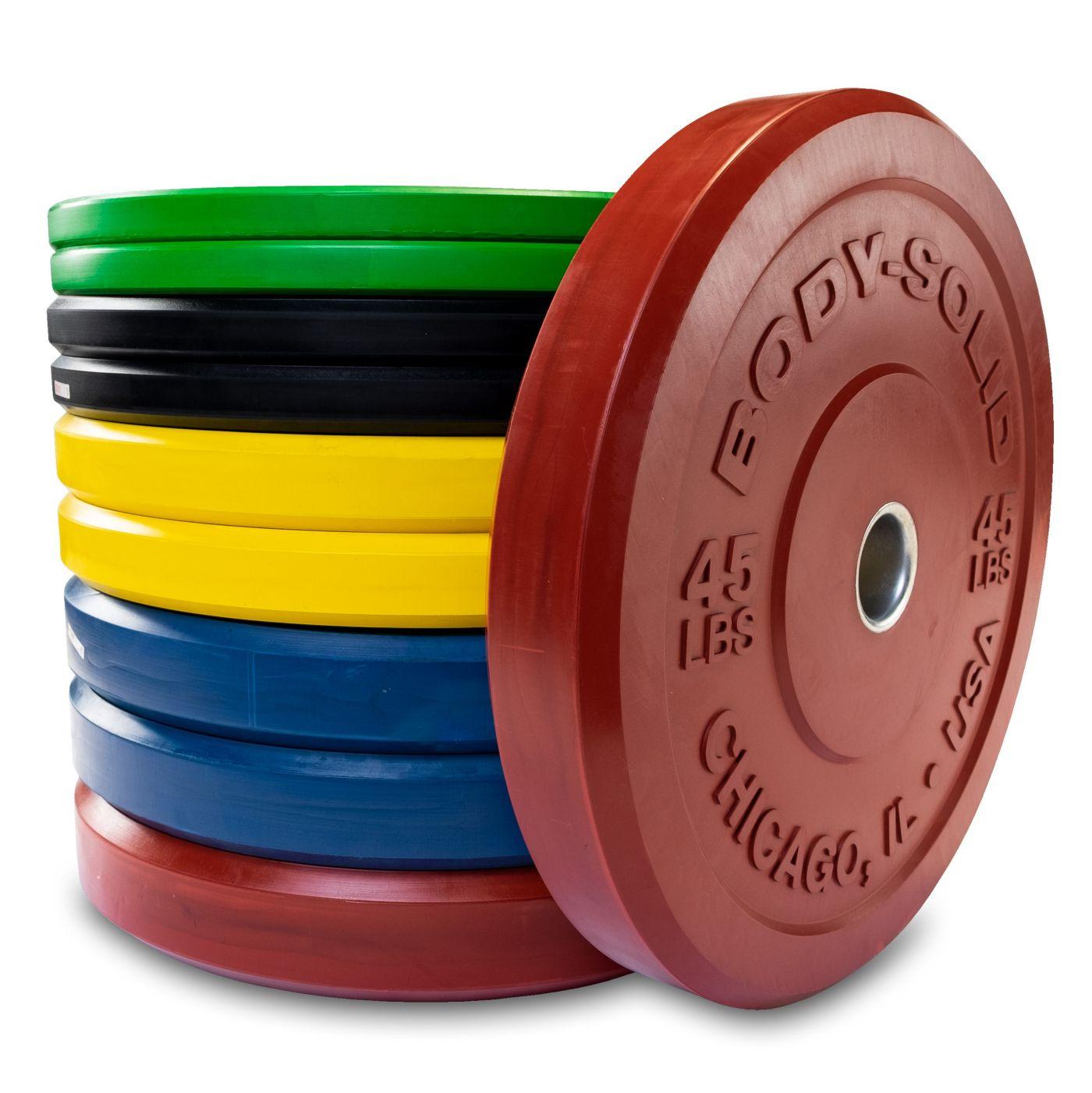 Body Solid OBPXC260 Colored Bumper Plates