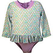 Sol Swim Little Girls' Long Sleeve Rash Guard One Piece Swimsuit