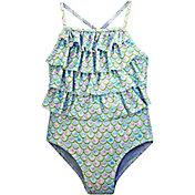 Sol Swim Little Girls' Turk Scales One Piece Swimsuit