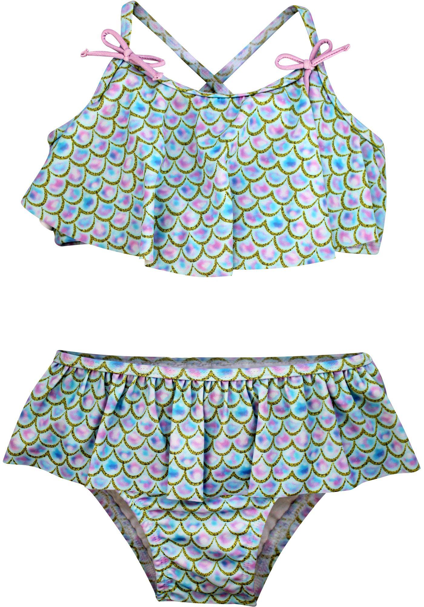 Sol Swim Little Girls' Turk Bikini Two Piece Swimsuit