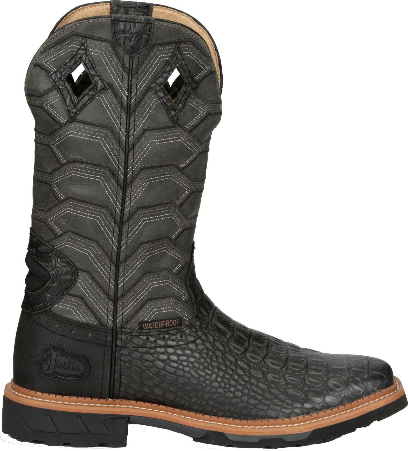 Justin Men's Derrickman Waterproof Western Work Boots
