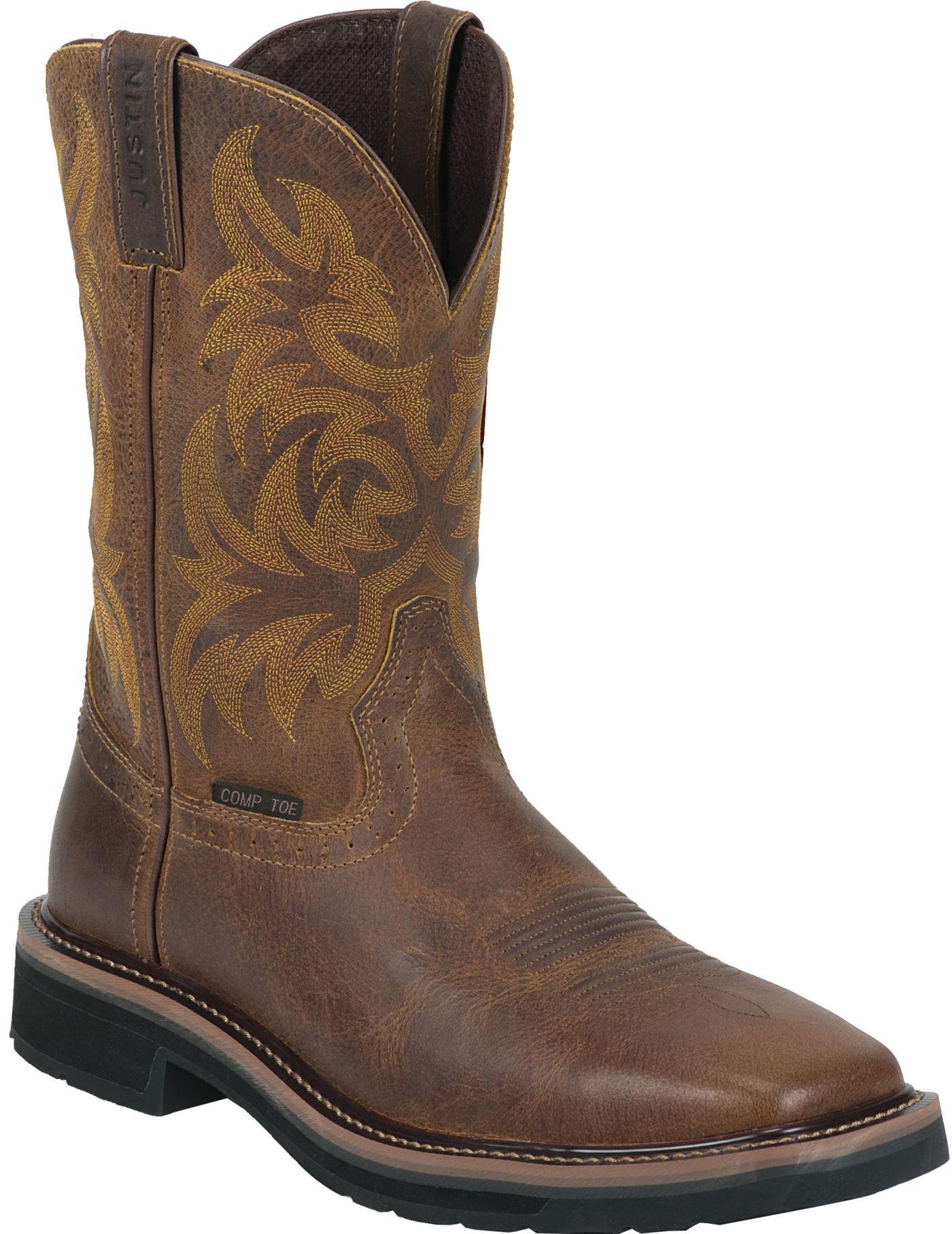 Justin Men's Handler Composite Toe Western Work Boots