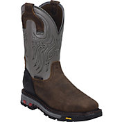 Justin Men's Tanker Waterproof Steel Toe Western Work Boots