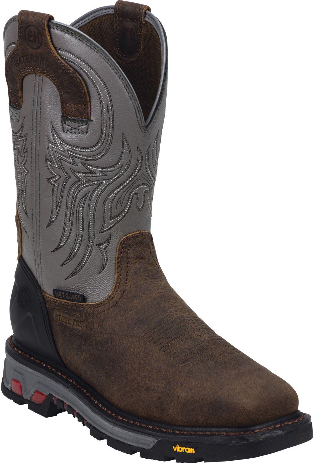 63907d1a3df Justin Men's Tanker Waterproof Steel Toe Western Work Boots