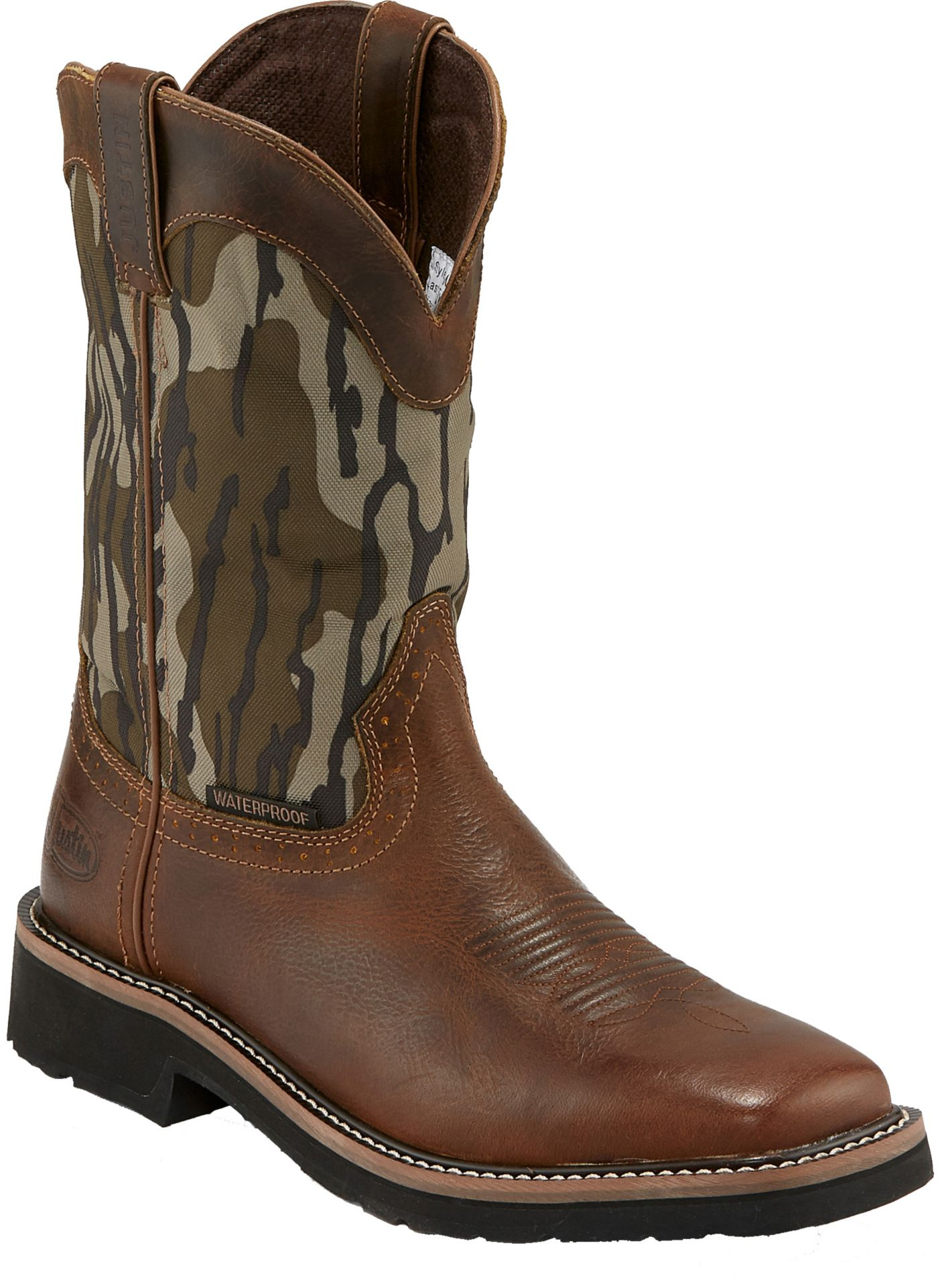 Justin Men's Trekker Bottom Lands Waterproof Western Work Boots